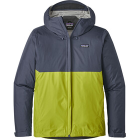 Patagonia Torrentshell Jacket Herr dolomite blue w/light gecko green